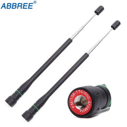 2 unids Abbree AR-775 SMA-Antena VHF UHF de banda dual para Baofeng TYT TH-UV8000D MD-380 Radio de dos vías desde fabricantes