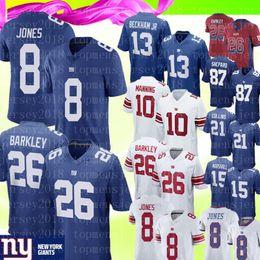 2019 87 jersey 26 Saquon Barkley Maglia New York Giants Jersey 10 Eli Manning 8 Daniel Jones Maglia 15 Brandon Marshall 21 Collins 87 Shepard Calcio
