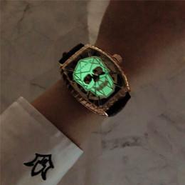¡¡¡CALIENTE!!! Cráneo súper luminoso Relojes automáticos mecánicos Correa de cuero o acero inoxidable para la elección Reloj casual Bestseller Diseño FRESCO desde fabricantes