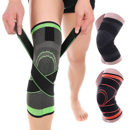 sports support bandages Promo Codes - Knee Support Professional Protective Sports Knee Pads Breathable Bandage Knee Brace for Basketball Tennis Cycling Running ZZA638
