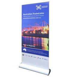 Рулонная печать баннера онлайн-100 * 200 см премиум этаж стоя портативный слеза выдвижной баннер стенды подтянуть свернуть выставка дисплей с печатной графикой