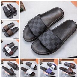 2019 sandalias dedos del sexo Con la caja de alta calidad deslizadores de las sandalias de playa diapositiva de la manera desgastes zapatos de los deslizadores de interior zapatilla de deporte de los calzados informales de la UE: 35-45 por shoe02