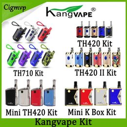 Mini scatole di ceramica online-Kit K Box Mod 100% originale Kangvape TH710 TH710 TH420 TH420 V1 II V2 Mini 420 con 0,5 ml cartuccia ceramica Coil Authentic
