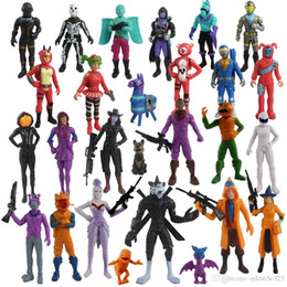 Juguetes de colección online-Figuras de acción de Fortnite 11.5 cm 24 unids Modelo de colección Juego de dibujos animados Figura de papel con mascotas Juguetes para niños