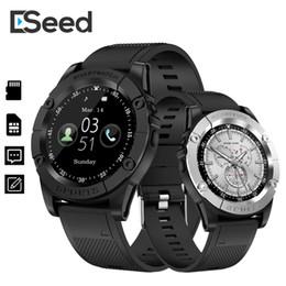 Hombre manzana online-ESEED SW98 Smart watch men support TF Tarjeta SIM Podómetro Cámara 380 mah Bluetooth Smartwatch para Android ios PK dz09 B57 watch