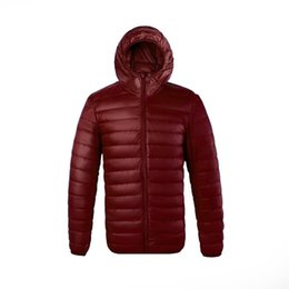 a45129b7de2 New White Duck Down Padding Men s Winter Jacket Ultralight Padded Jacket  Casual Warm Snow Outerwear Hooded Puffer Down