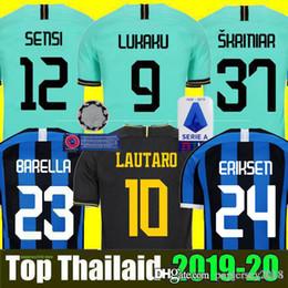 crianças entre kit milan Desconto Mushup 20º aniversário  LAUTARO Martinez  ERIKSEN Inter MILAN 2019 2020 camisa de futebol de Milão PERISIC NAINGGOLAN campeão jerseys 18 19 20 camisa de jogo de futebol