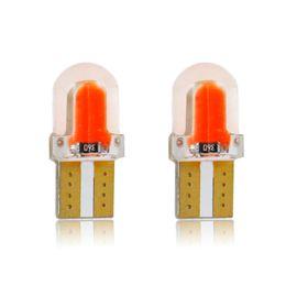 Levou lâmpada luzes roxas on-line-10 pçs / lote Nova Chegada T10 194 168 W5W COB 8SMD 1 W canbus Silicone Super Brilhante LEVOU Lado da Licença Matrícula Lâmpada Lâmpada DC12V