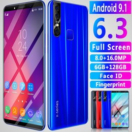mms mp3 Promo Codes - OEM X27 PLUS smartphones Fingerprint 6.3inch HD Unlocked 16.0MP dual sim Android 9.0 Shown 4G LTE Cell phones