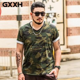 fbbe4290f3a1 HOT SELL GXXH Oversize Large Size Men s Short Sleeves Printed T Shirts Male  Fat Guy Summer Big and Tall Mens Tee Clothes XXL-7XL