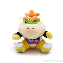 2019 ursinhos brancos amor Chegada nova Super Mario Bowser Koopa JR Recheado de Pelúcia Boneca de Brinquedo Do Bebê Macio 18 cm Bordado Koopa Presente de Natal Para crianças