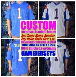 remiendos al por mayor de la camisa del niño Rebajas Universidad personalizada camisetas de fútbol americano para hombre para mujer juvenil de fútbol de rugby cosido auténtico jersey 4xl 5xl 6xl 7xl ropa deportiva