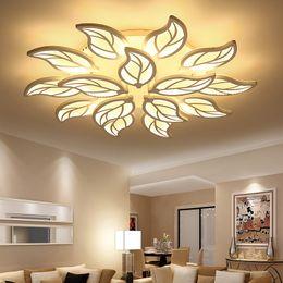 Luces de techo de hoja online-Luces de techo led modernas para el estudio del dormitorio de la decoración Accesorios de la lámpara del techo Forma de hoja AC 90-265V