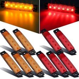 2019 luci a led verde per i camion Indicatore luminoso laterale a LED ad alta potenza 6 LED 12V per rimorchio BUS camion Rimorchio bianco / rosso / giallo / blu / verde sconti luci a led verde per i camion