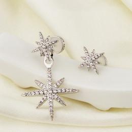 Marca Pendientes Meteor Joyas para Mujeres Chica Diseñador PM Incrustaciones de Diamantes Asimétricas Estrellas Pendientes Colgantes Gotas de Oreja Accesorios de Joyería desde fabricantes