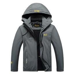 2019 chaqueta rompevientos forro extraíble Para hombre de la chaqueta de deporte al aire libre lluvia impermeable al aire libre Senderismo Ruta capa de la chaqueta Softshell Clásico de Invierno Lluvia de secado rápido