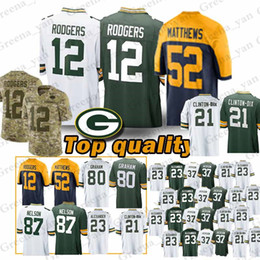 e6ca40db8ec TOP Green Bays Packer Jerseys 12 Aaron Rodgers 23 Jaire Alexander 18  Randall Cobb 52 Clay Matthews 17 Davante Adams Jersey