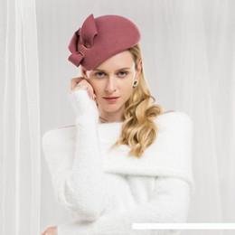 Argentina Señora de ala del sombrero de las lanas invierno de las muchachas gorro de lana de Nueva Moda de lana sombreros de ala del casquillo Joker otoño Invierno Inglés Ajuste A07 Suministro