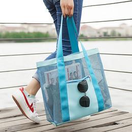 2019 сетки 3styles летняя сетка сумка для хранения женщины магазины сетки сумки пляж сумка тотализатор девушка путешествия плавание сумка для хранения организатор FFA2428