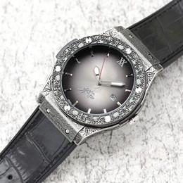 Big bang Correa de cuero Relojes deportivos para hombre Calidad Tallado Vintage Cuarzo Cronógrafo Maestro Reloj de lujo Top Bang Montre de lux HUB desde fabricantes