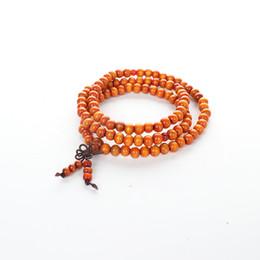 Canada 108 perles de bouddha bracelets pour écarter les couples maléfiques 108 noeuds noir 8mm ornements à la main femmes Bracelet hommes bracelets cheap evil ornaments Offre