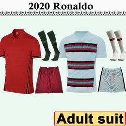 2020 shorts portugal 2020 RONALDO ANDRE GOMES Hommes Costume Football Maillots PORTUGAL SILVA J.MOUTINHO Domicile Extérieur Football Shirt adulte Kit Uniformes à manches courtes promotion shorts portugal