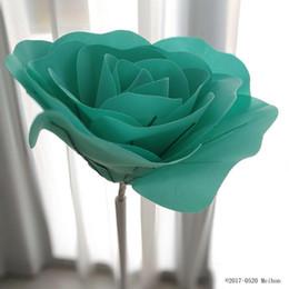2019 wandkunst rosen 30cm großer Schaum-Fälschungs-Blumen-Kopf-künstliche Rosen-Satz des europäischen Art-Hochzeits-Blumen-Wand-Hochzeits-Fenster-Hintergrund-Plans günstig wandkunst rosen
