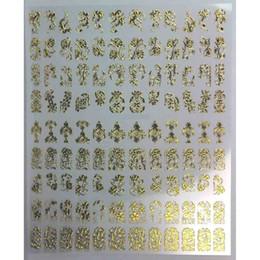 3d spitze nagelaufkleber Rabatt Nail Art Sticker 3D Metall Hohl Golden Flower Leaf Lace DIY Maniküre Nägel Kunst Geschenk CJ666