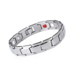 Braccialetto di bellezza in acciaio al titanio Bracciale in magnetica di terapia Braccialetto di tutti i giorni Bellezza Una taglia adatta per la maggior parte da
