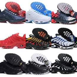 polyester cotton hot Coupons - Hot Sell 2019 Air Tn Shoes Men New Design Tn Plus Running Shoes Cheap Tn Requin Breathable Mesh Black White Red Basketball Trainer Sneakers