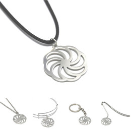 Colar de talismã on-line-Roda da Eternidade charme colar Kolovrat Sun Cruz Emblema Arménia Amuleto Talismã Sinal pulseira chaveiro marcador