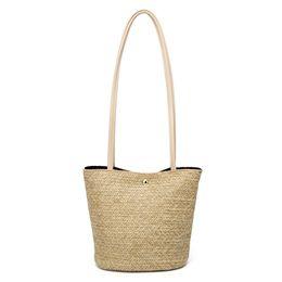 Соломенный торт-кошелек онлайн-Women Circle Bohemian Style Crossbody Purse Summer Straw Round Small Beach Fashion Shoulder Bag Vintage Tote Handbag
