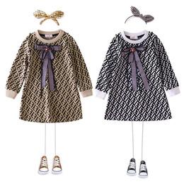 Westliche röcke prinzessin online-kids_stars Girl Pure Cotton Dress 2019 Frühling und Herbst tragen Muster Luxus Designer Kinder Western Style Princess In Skirt 0818
