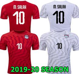 Camisas de egipto online-M. SALAH 19 20 Camiseta de fútbol roja local de Egipto KAHRABA A. HEGAZI RAMADAN 2019 2020 Camiseta de fútbol blanca de Egipto.