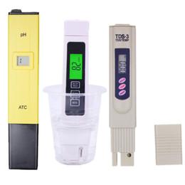 ph misuratore di conducibilità Sconti 3 Pz / lotto Tds Ec Meter / tester, pH Ec Meter, conducibilità Meter Pen, acquario, tester Filtro Qualità dell'acqua 15% di sconto T8190619