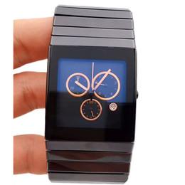 Ceramica xl online-Vendita calda di alta qualità Top Fashion RD Full Black ceramica XL movimento al quarzo Cronografo Mens Watch Cronometro maschile orologio da polso