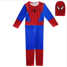 red jumpsuit costume Coupons - Cosplay Costumes Boys Jumpsuits Halloween Christmas Cosplay Children Festive Party Supplies Kids