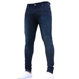 Jeans ebene online-Pishon Men's Plain Leichte Jeans aus gewaschenem Denim-Stretch mit super schmalen, sich verjüngenden Beinen