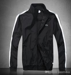 marcas de ropa de italia Rebajas Italia nuevos hombres de la moda abrigo de la chaqueta con la impresión de la letra chaquetas rompevientos sudadera con capucha de manga larga marca para hombre ropa
