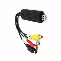 Canada Adaptateur vidéo SZAICHGSI 10pcs / lot avec capture audio USB 2.0 Easycap Capture 4 canaux vidéo TV DVD VHS Adaptateur de capture audio carte TV vidéo cheap easycap adapter Offre