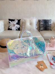 designer duffle sacos mulheres Desconto 19ss New Designer colorido Bolsas de pvc homens Mulheres Bolsas saco de viagem duffle bag crossbody bolsa de ombro de alta qualidade bagagem