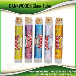 Adesivo in legno online-Il più nuovo DANKWOODS Tubo di vetro vuoto Legno Sughero Consigli Cartucce Asciutto a base di erbe Erbe RAW con aromi Adesivi Packwoods E Sigarette Tubi di vapore