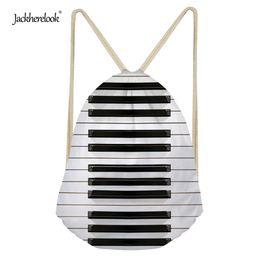 2019 cordes de piano Jackherelook Cordon Sac Chaîne Sac Sac 3D Piano Motif Toile Hommes Femmes Voyage Stockage Paquet Adolescents Sac À Dos Pièce promotion cordes de piano