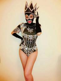 df55e31a4 Cristais Brilhantes preto Bodysuit Diamantes Sparkly Headpiece Outfit Sexy  Roupa de Palco Mulheres Traje de Aniversário Comemore Desgaste Da Dança
