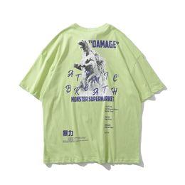2019 camiseta oem 2019 Alta Calidad 100% Algodón Unisex Top Fashion Godzilla Monster Serigrafía OEM Logo Casual Manga Corta Hombres camiseta camiseta oem baratos