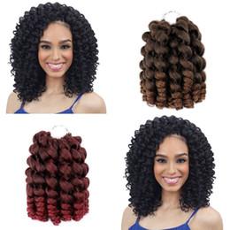 extensiones de seda Rebajas Wand Curl 8inch 80g Bounce Crochet Hair 20 Roots Trenzado sintético Import Import Silk Wand Curl Crochet Hair Extensions