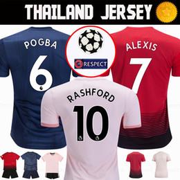 Thailand Alexis Manchester POGBA Man Soccer Jersey 2019 LUKAKU RASHFORD Football  Kit Top United UTD Jersey 18 19 ADULT Shirt KID SET uniform a8c8aac16