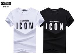 cc50a3c5ae 2019 19ss Ds2 T-shirt Moda D2 Icona Uomo Cotone di alta qualità Estate  manica corta T-shirt Marchi Lettera degli uomini Stampa Tee 07 sconti icone  di icone