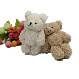 2019 muñeca de dibujos animados de doraemon Kawaii Osito de peluche pequeño articulado Peluche con cadena 12 CM Juguete de oso de peluche Mini oso Ted Osos Juguetes de peluche Regalos Regalo de Navidad K0295