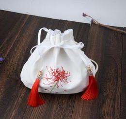 Canada Sac Hanfu, style ancien, oblique, cent fleurs de l'autre côté de la broderie, éléments chinois dessinant des cordes, sacs à main, Offre